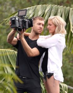 ££££Ellie Goulding and Calvin Harris filming the music video for their new single 'I Need Your Love'