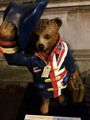 Paddington Bears are all across the city.