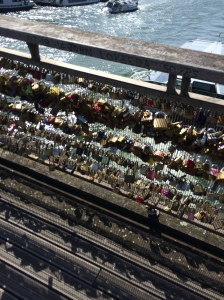 The remains of the Pont des Arts