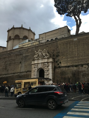 Trump would love the wall that surrounds the Vatican