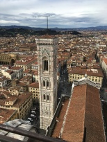 Viewing Florence from the top of Il Duomo